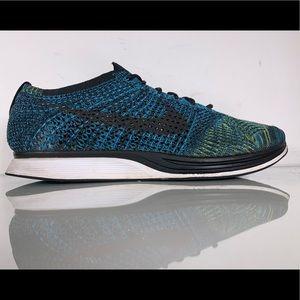Nike Flyknit Racer 'Blue Glow' Mens Size 11.5